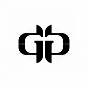 Gp Or Gg Modern Monogram Logo