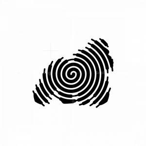 Gorilla Spiral Silhouette Logo