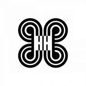 Abstract Letter Hh Decorative Logo