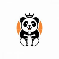 Panda King Bowling Logo