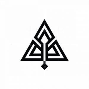 Letter A Bow Arrow Logo