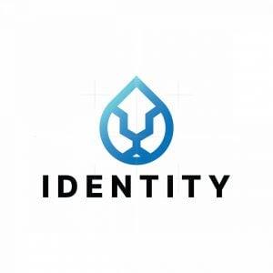 Lion Water Droplet Logo