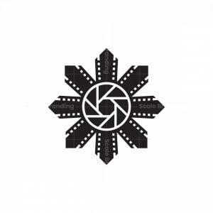 Lens Movie Flower Logo
