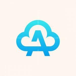 Letter A Cloud Initial Logo