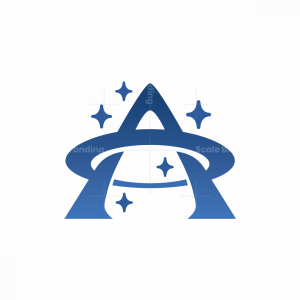 Letter A Space Logo