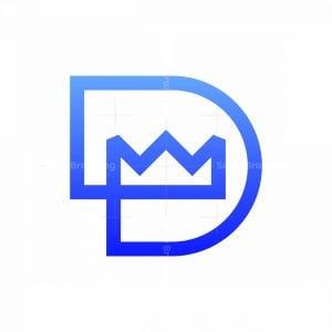 Letter D King Monogram Logo