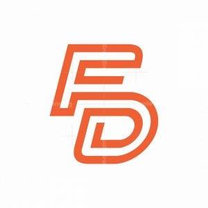 Letter F + D Logo