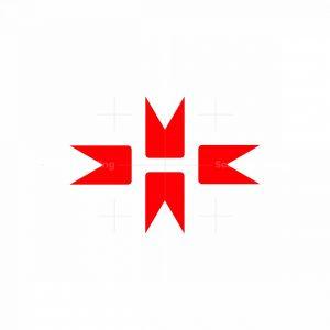 Letter H Bookmark Logo
