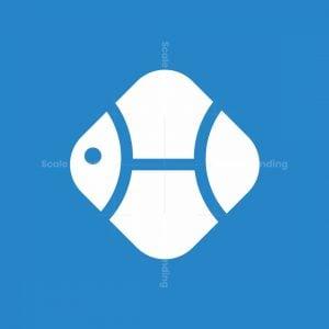 Letter H Fish Logo