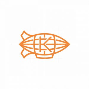 Letter K Airship Logo
