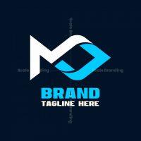 Letter M Fish Media Logo