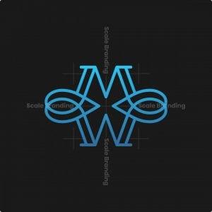 Letter Mw Loop Logo