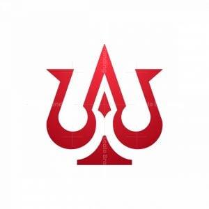 Letter W Trident Logo