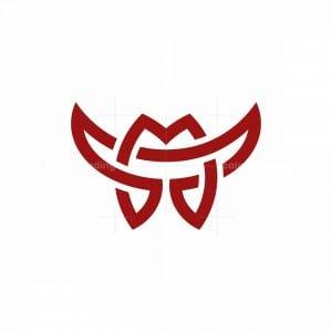 Letters Mt Or Tm Horns Logo