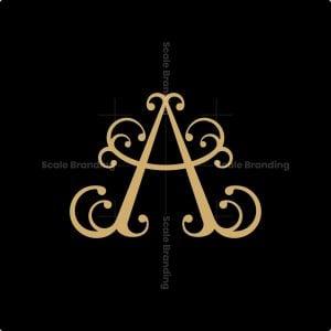Luxury Curve Letter A Logo