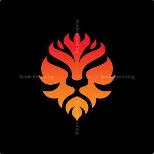 Luxury Fire Lion Logo