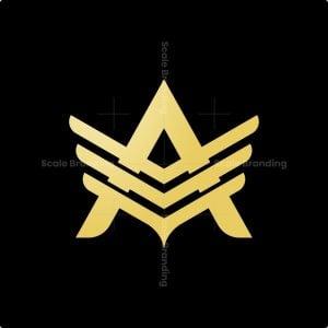 Luxury Letter A Wing Logo