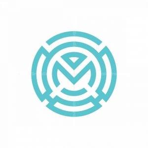 M Letter Monogram Logo