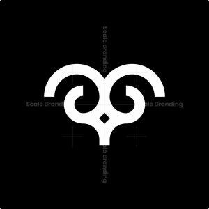 Minimalist Aries Logo