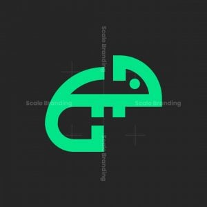 Minimalist Chameleon Logo