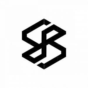 Modern Ambigram Letter B Logo.