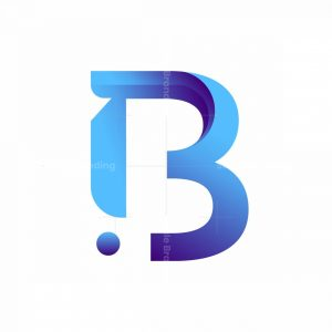 Modern B Initial Logo