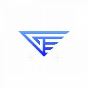 Modern Letter G Wing Monogram Logo