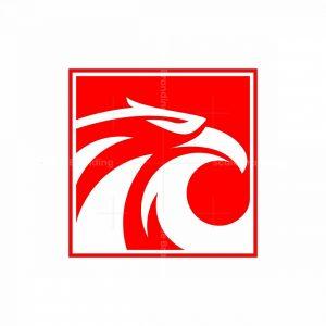 Modern Square Eagle Logo