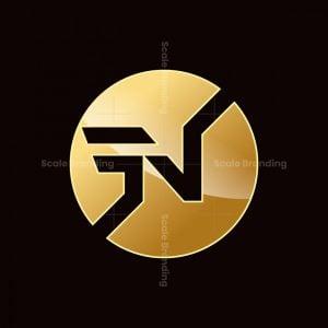 Letter N Golden Logo