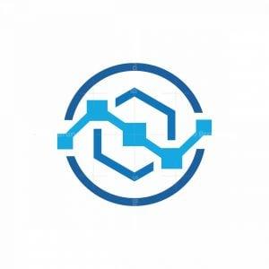 N Letter Tecnology Logo
