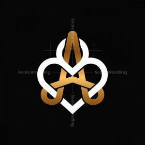 Premium A Letter Love Logo