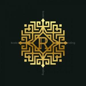 R Letter Ornament Logo