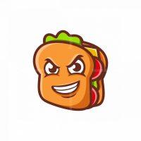 Sandwich Mascot Vector Logo