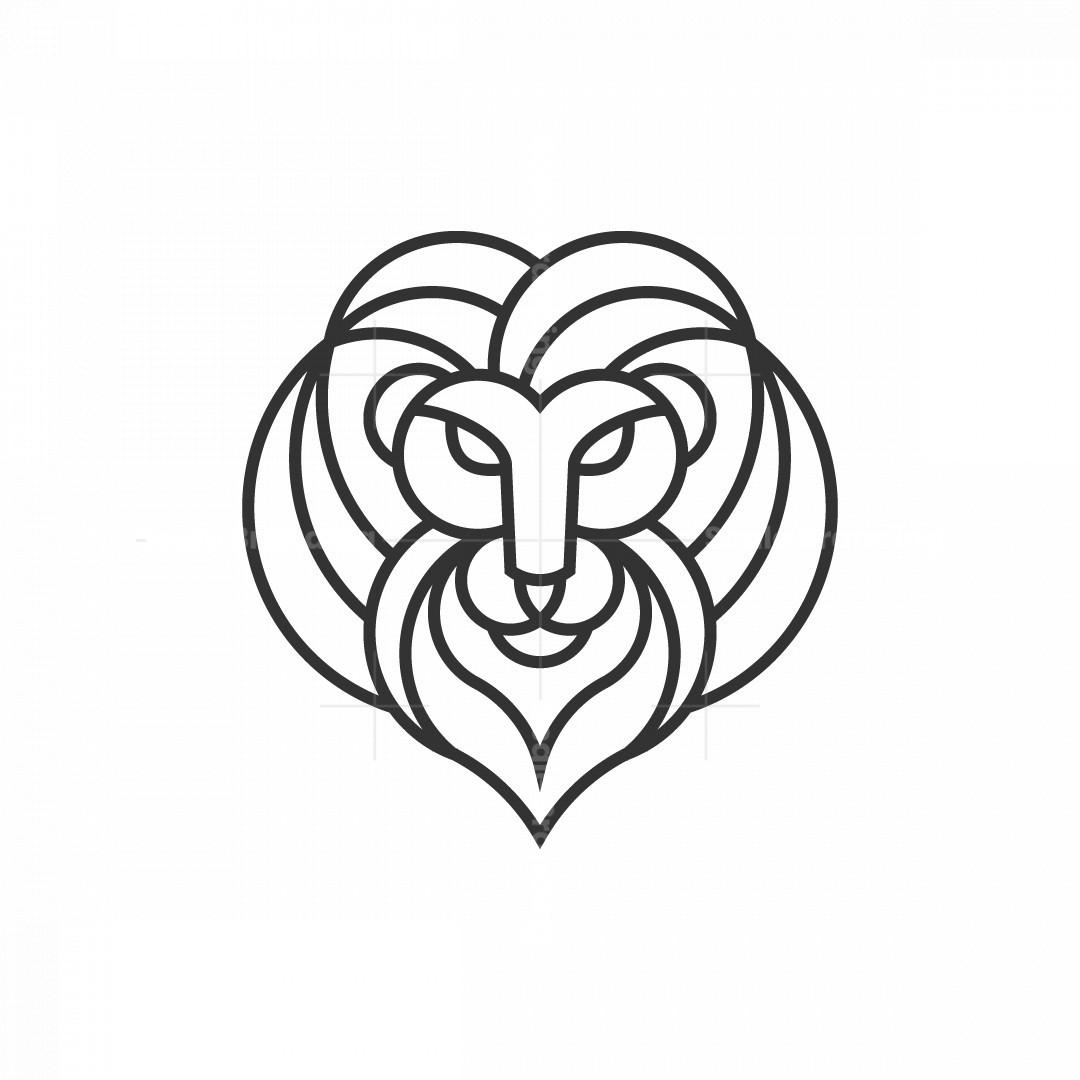 Lineart Lion Logo
