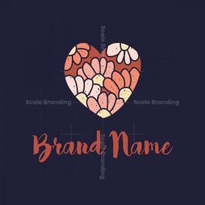Heart Flowers Logo