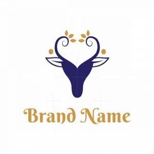 Beautiful Deer Heart Logo