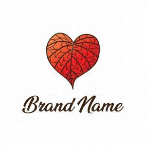 Red Heart Leaf Logo