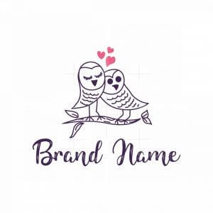 Two Owls Love Logo