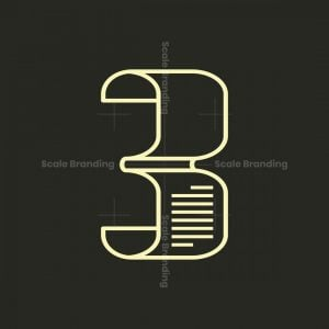 Simple 3 Or B Letter Logo