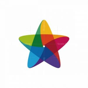 Abstract Star Colorful Logo
