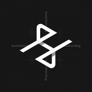 Stylish Hs Or H5 Logo