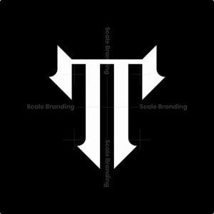 T Luxury Monogram Logo