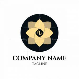 Elegant Flower Letter Au Logo