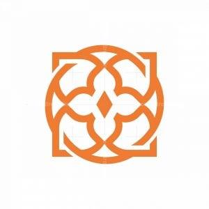 Tiger Crown Flower Logo