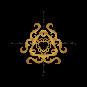 Triangle Flower Ornamet Logo