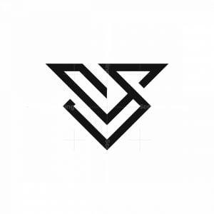 V Monoline Logo