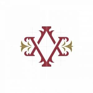 Va Or Av Luxury Monogram Logo