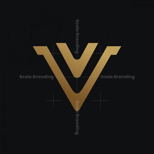 V Monogram Gold Logo