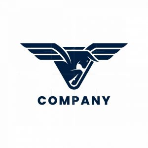 Winged Bull Triangle Logo