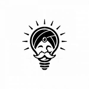 Wise Guru Bulb Logo
